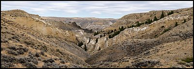 Valley of the Walls. Upper Missouri River Breaks National Monument, Montana, USA (Panoramic color)