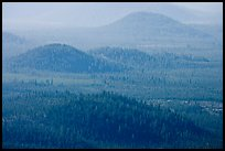 Old cinder cones in the distance. Newberry Volcanic National Monument, Oregon, USA ( color)