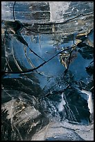 Close-up of obsidian glass. Newberry Volcanic National Monument, Oregon, USA ( color)