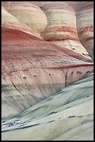 Eroded volcanic ash hummocks. John Day Fossils Bed National Monument, Oregon, USA ( color)