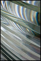 Pattern in lighthouse Fresnel lens, Cap Meares. Oregon, USA (color)