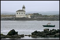 Coquille River lighthouse. Bandon, Oregon, USA ( color)