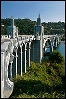 Isaac Lee Patterson Bridge over the Rogue River. Oregon, USA ( color)