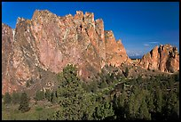 Cliffs called the Phoenix. Smith Rock State Park, Oregon, USA ( color)