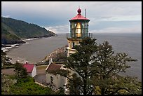Heceta Head lighthouse and coastline. Oregon, USA