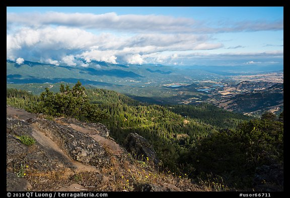 View from Hobart Bluff. Cascade Siskiyou National Monument, Oregon, USA (color)