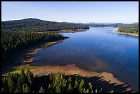 Aerial view of Hyatt Lake and Chinquapin Mountain. Cascade Siskiyou National Monument, Oregon, USA ( )