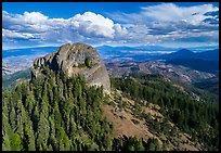 Aerial view of Pilot Rock, Soda Mountain Wilderness, and Mt Shasta. Cascade Siskiyou National Monument, Oregon, USA ( )