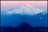 Mount Baker, sunrise, Mount Baker Glacier Snoqualmie National Forest. Washington ( color)