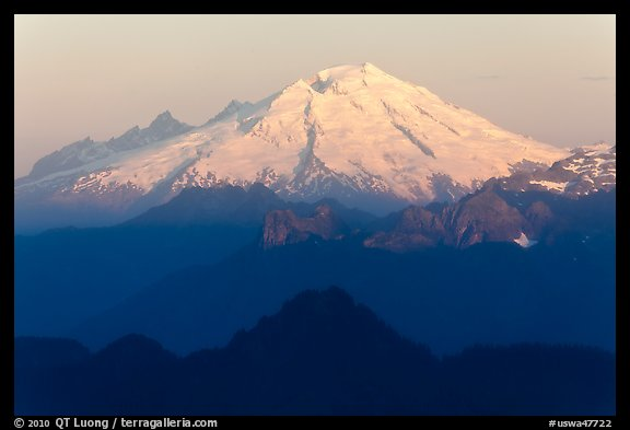 Mt Baker at sunrise. Washington (color)