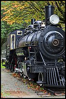 Historic steam locomotive, Newhalem. Washington ( color)