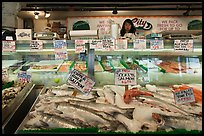 Fresh fish for sale, Pike Place Market. Seattle, Washington ( color)
