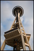 Space needle from the base. Seattle, Washington ( color)