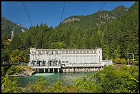 Gorge Dam in summer, Newhalem. Washington ( color)
