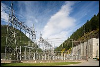 High voltage lines near Diablo powerhouse. Washington ( color)