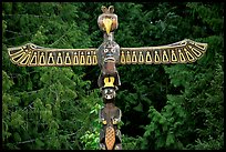 Totem Pole carved by native tribes, Olympic Peninsula. Olympic Peninsula, Washington ( color)