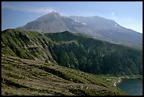View of the crater. Mount St Helens National Volcanic Monument, Washington (color)