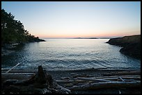 Cove near Iceberg Point at sunset, Lopez Island. San Juan Islands National Monument, Washington ( color)