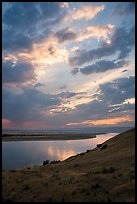 Columbia River at sunset, Wahluke Unit, Hanford Reach National Monument. Washington ( color)