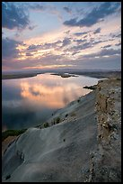 Columbia River from top of White Bluffs at sunset, Wahluke Unit, Hanford Reach National Monument. Washington ( color)