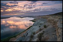 Columbia River and White Bluffs at sunset, Wahluke Unit, Hanford Reach National Monument. Washington ( color)