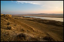 Shrub-steppe terrain and Columbia River, Wahluke Unit, Hanford Reach National Monument. Washington ( color)