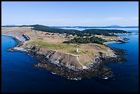 Aerial view of Cattle Point, San Juan Island. Washington ( color)