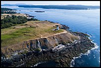 Aerial view of Cattle Point and Lopez Island, San Juan Island. San Juan Islands National Monument, Washington ( color)