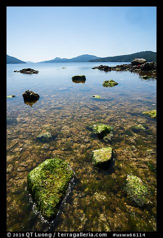 East Sound from Indian Island shore, San Juan Islands National Monument, Orcas Island. Washington (color)