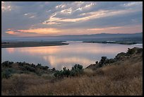 Columbia River, sunset, Hanford Reach National Monument. Washington ( color)
