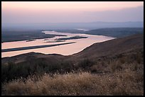Summer sunset over Columbia River, Hanford Reach National Monument. Washington ( color)