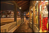 Storefront and gallery by night. Jackson, Wyoming, USA ( color)