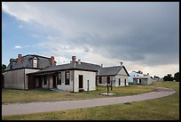 Path and buildings. Fort Laramie National Historical Site, Wyoming, USA ( color)