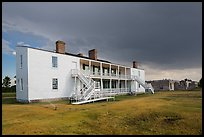Old Bedlam, oldest building in Wyoming. Fort Laramie National Historical Site, Wyoming, USA ( color)