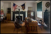 Officer office. Fort Laramie National Historical Site, Wyoming, USA ( color)