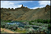 Shoshone River and rock Chimneys, Shoshone National Forest. Wyoming, USA ( color)
