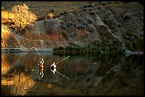 Fly fishermen, Snake River. Wyoming, USA ( color)