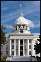 State Capitol built in 1851. Montgomery, Alabama, USA (color)
