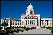 Walkway leading to the Arkansas Capitol. Little Rock, Arkansas, USA (color)