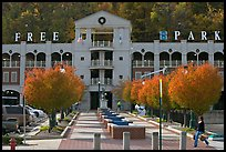 Parking structure and fall colors. Hot Springs, Arkansas, USA ( color)