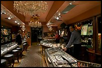 Jewelry and gallery during the gallery night. Hot Springs, Arkansas, USA ( color)
