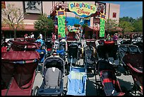 Strollers parked, Walt Disney World. Orlando, Florida, USA ( color)