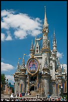 The Cinderella Castle, centerpiece of Magic Kingdom Theme Park. Orlando, Florida, USA ( color)