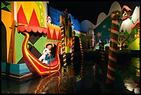 Indoor boat ride, Magic Kingdom, Walt Disney World. Orlando, Florida, USA ( color)