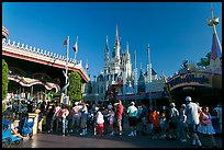 People lining up, Magic Kingdom, Walt Disney World. Orlando, Florida, USA ( color)