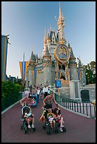 Mothers pushing strollers, Magic Kingdom. Orlando, Florida, USA ( color)
