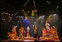 Colorful cast of characters, Circus show, Walt Disney World. Orlando, Florida, USA ( color)