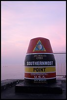 Southermost point in continental US. Key West, Florida, USA ( color)