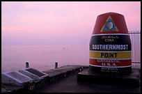 Marker for Southermost point in continental US. Key West, Florida, USA (color)