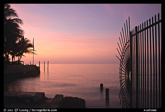Sunrise near  Southermost point in the continental US. Key West, Florida, USA